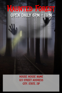 Haunted Forest Poster Template