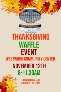 Thanksgiving Waffle Event Template