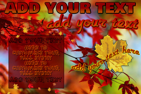 Fall Autumn Foliage Leaves Trees Seasonal Event Halloween Thanksgiving Flyer