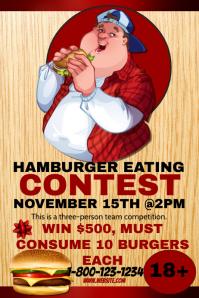 Hamburger Eating Contest Template