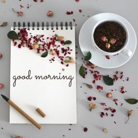 86 Good Morning โพสต์บน Instagram template