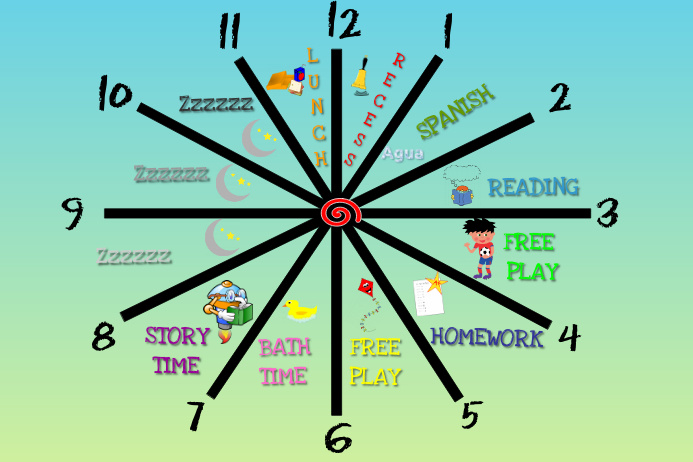 kid s schedule clock template postermywall