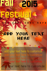 Fall Autumn Halloween Thanksgiving Season Festival Event Flyer