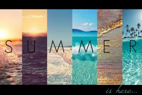 Summer Ocean Sea Seasonal Breeze Island Caribbean Hawaiian Beach Water Wall Decor Art Word Poster