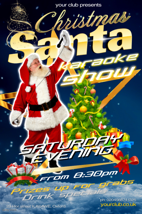 Christmas Karaoke Show Poster