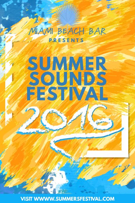 Summer Festival Pinterest Image Template