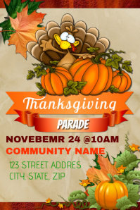 Thanksgiving Parade Event Template