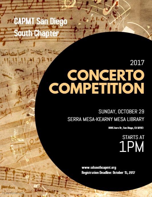 SDSC  2017 Concerto Competition Flyer