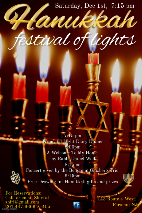 Happy Hanukkah Poster