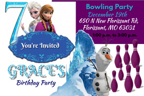 Customizable Design Templates For Frozen Birthday Invitation - Frozen birthday party invitation template free