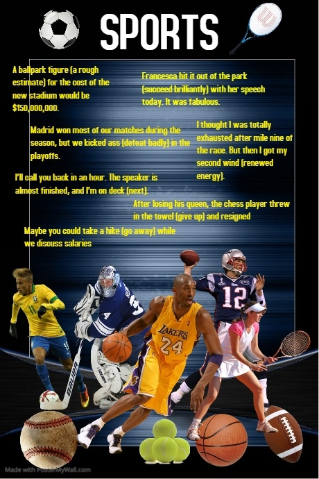 Sports Idioms Poster template