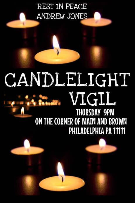 CANDLELIGHT VIGIL Template | PosterMyWall