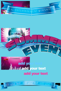 Flyer Summer Club Band Music Concert Block DJ Party Event Ad