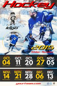 Hockey Team Schedule Poster