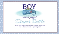 Under the Sea Nautical Baby Shower Invitation Business Card template