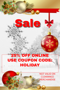 Christmas Sales Event Template
