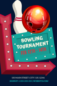 Bowling Party Event Template