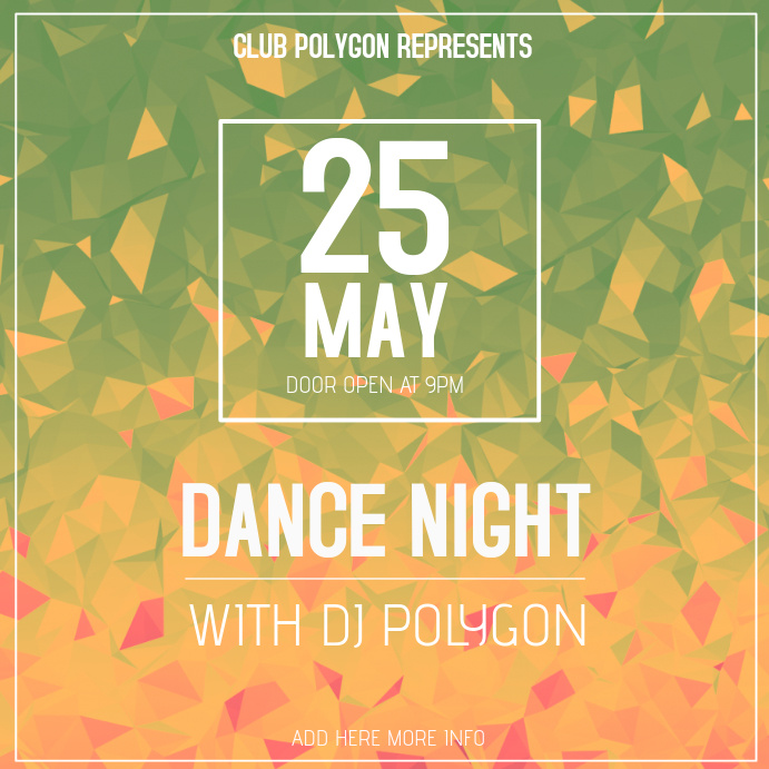 Dance Event Instagram Post Template Postermywall