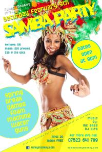 Samba party poster template