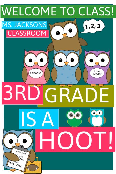 School Cartaz template