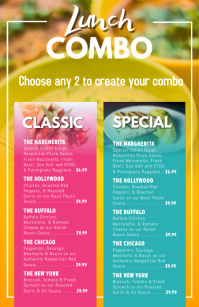 Lunch Combo Menu Template