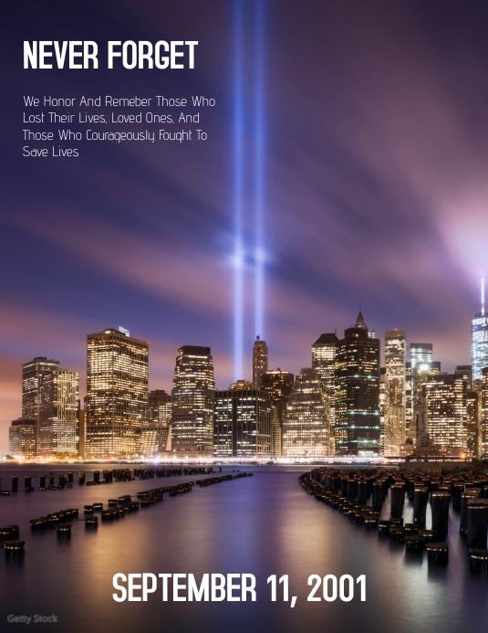 9-11 Flyer (US Letter) template