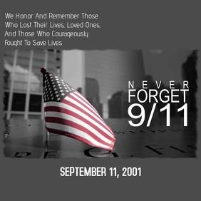 9/11 Square (1:1) template