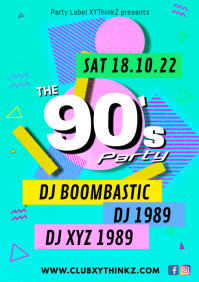 90's 90s nineties party event music bar club