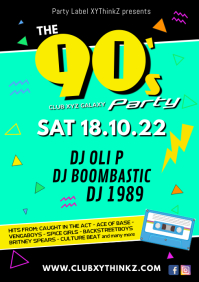 90's Party 90er nineties event ad Retro 90s