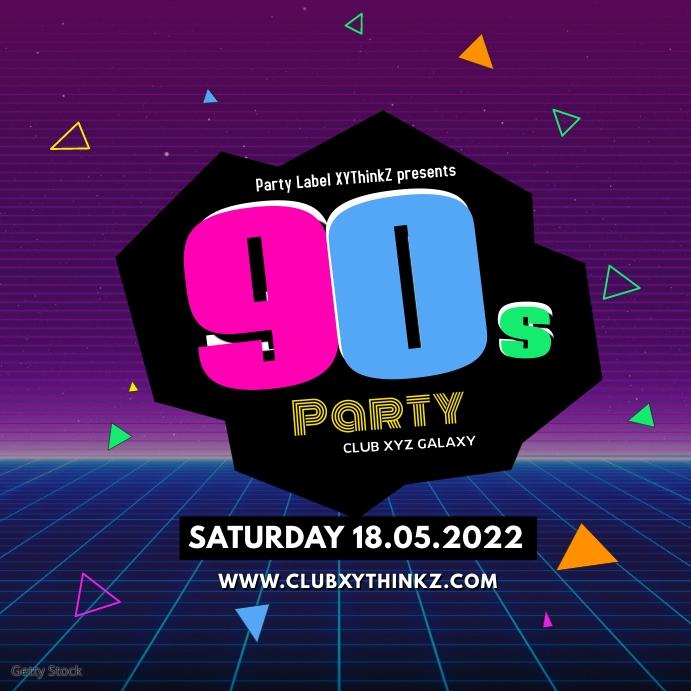 90's Party 90er Oldschool Retro Event 90er instagram 80s ad