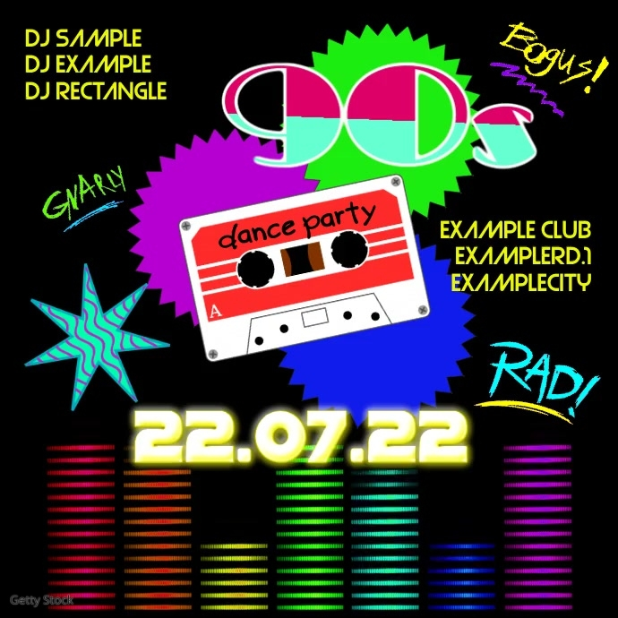 90's Party 90s Oldschool Retro Event 90er 80s Facebook