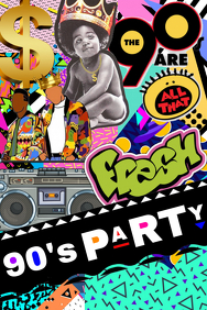 90's Party Backdrop