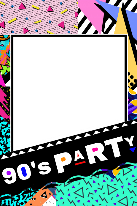 90's Party Prop Frame