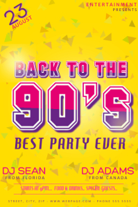 90's Party Flyer template