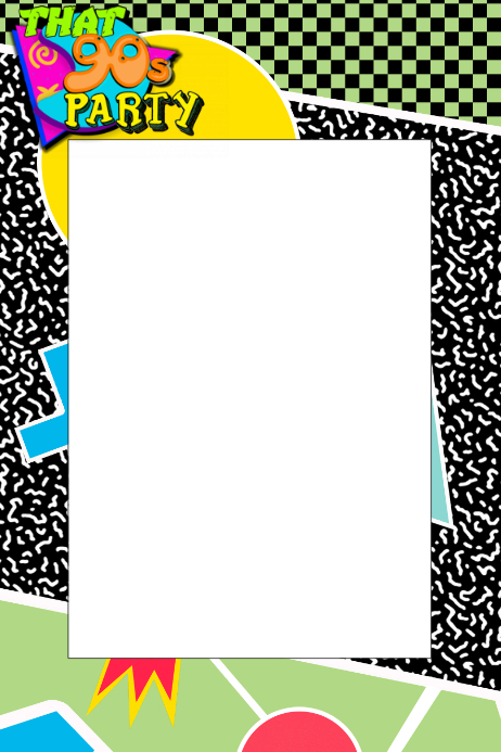 90 u0026 39 s party prop frame template