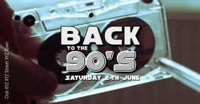 90s 80s 90's 80's party event music retro ad