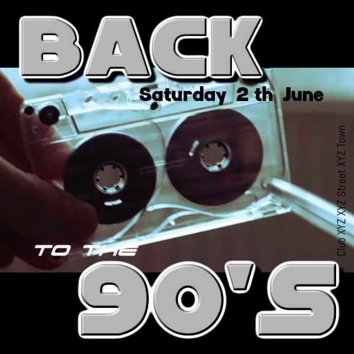 90s 80s 90's 80's party event music retro ad