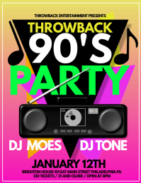 90s party Flyer (US Letter) template