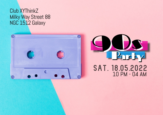 90s Party Oldschool Retro Event 90's Poster