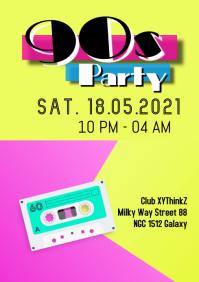 90s Party Oldschool Retro Event 90er