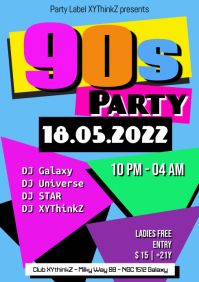 90s Party Oldschool Retro Event 90er