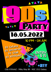 16 300 Customizable Design Templates For 80s Party Flyer Postermywall