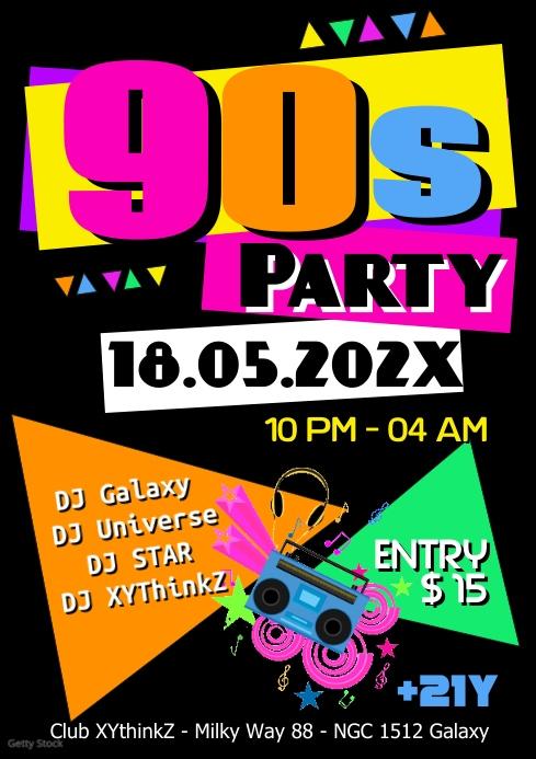 copy of 90s party oldschool retro event 90er