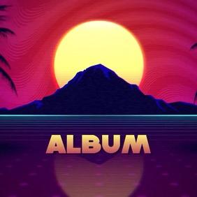 90s retro album cover video 2020 Albumcover template