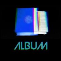 90s Television nostalgic retro cover video Pochette d'album template