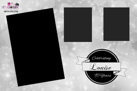 90th Photobooth Layout Label template