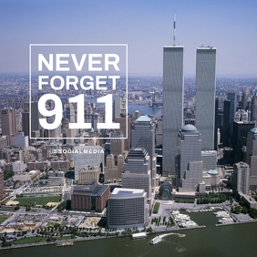 911 Memorial Flyer Template Instagram Plasing