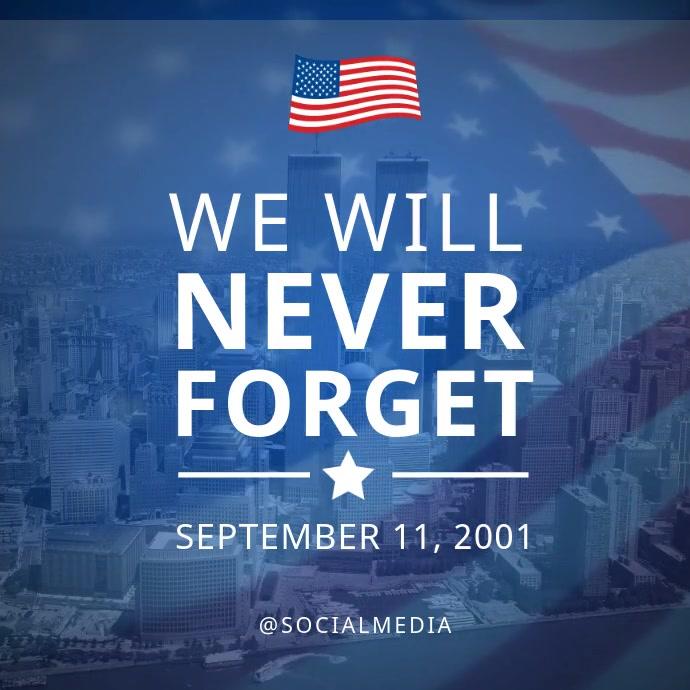 911 Memorial Flyer Video Template Post Instagram