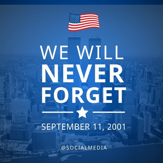 911 Memorial Flyer Template Post Instagram