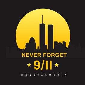 911 Memorial Flyer Template Instagram Plasing